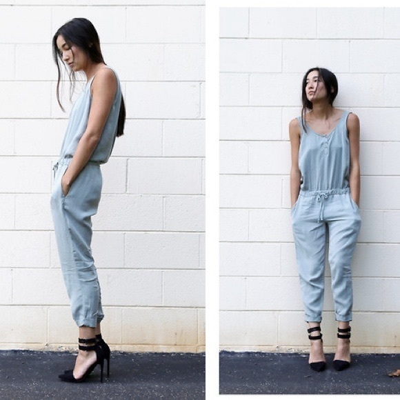 6fe0735c67c3 CLOTH AND STONE JEAN JUMPSUIT CHAMBRAY SZ SMALL